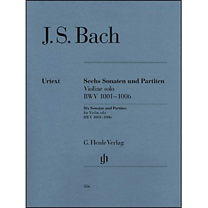 G--Henle-Verlag-6-Sonatas-And-Partitas-BWV-1001-1006-For-Violin-By-Bach-Standard