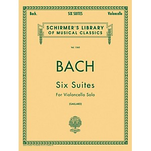 G--Schirmer-6-Suites-For-Unaccompanied-Violoncello-Bwv1007-1012-By-Bach-Standard