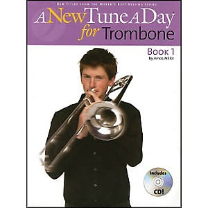 Music-Sales-A-New-Tune-A-Day-For-Trombone-Book-1-Book-CD-Standard