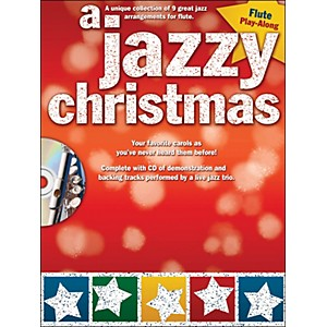 Hal-Leonard-A-Jazzy-Christmas---Flute-Play-Along-Book-CD-Standard