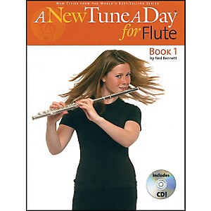 Music-Sales-A-New-Tune-A-Day-For-Flute-Book-CD-Standard