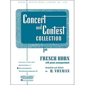 Hal-Leonard-Concert-And-Contest-Collection-For-French-Horn-In-F-Piano-Accompaniment-Only-Standard