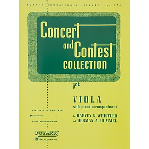 Hal-Leonard-Concert-And-Contest-Collection-For-Viola-Solo-Part-Only-Standard