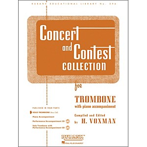 Hal-Leonard-Concert-And-Contest-Collection-For-Solo-Trombone-Solo-Part-Only-Standard