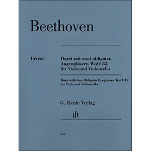 G--Henle-Verlag-Duet-With-Two-Obligato-Eyeglasses-Woo32-For-Viola-And-Violoncello-By-Beethoven---Platen-Standard