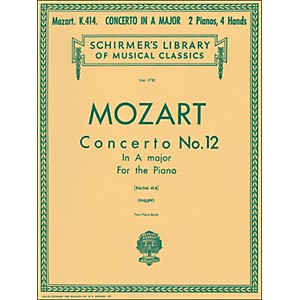 G--Schirmer-Concerto-No-12-A-Major-K414-2-Pianos-4-Hands-Score-By-Mozart-Standard