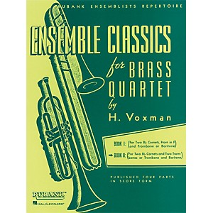 Hal-Leonard-Ensemble-Classics-Series-Brass-Quartets-Vol-2-Two-Cornets--Trombone--And-2nd-Trombone-Standard