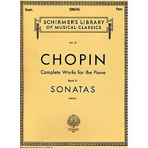 G--Schirmer-Sonatas-For-Piano-Chopin-Complete-Works-Book-11-By-Chopin-Standard