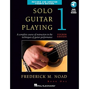 Music-Sales-Solo-Guitar-Playing-Book-1---4th-Edition-Book-CD-By-Noad-Standard