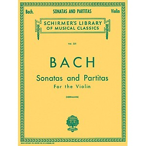 G--Schirmer-Sonatas-And-Partitas-Violin-Unaccompanied-By-Bach-Standard