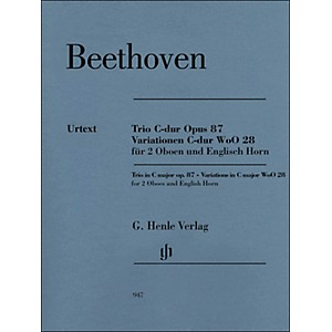 G--Henle-Verlag-Trio-In-C-Major-Op--87-Variations-In-C-Major-Woo28-For-2-Oboes-And-English-Horn-By-Beethoven---Voss-Standard