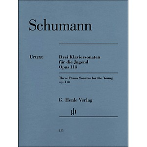 G--Henle-Verlag-Three-Piano-Sonatas-For-The-Young-Op--118-By-Schumann---Herttrich-Standard