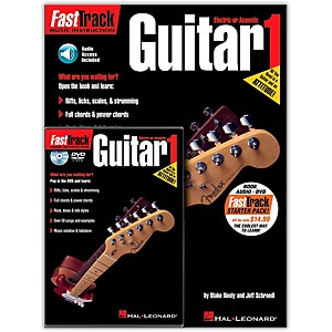 Hal-Leonard-FastTrack-Guitar-Method-Starter-Pack---Includes-Book-CD-DVD-Standard