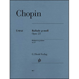 G--Henle-Verlag-Frédéric-Chopin---Ballade-in-G-minor-Op--23-For-Piano-Standard