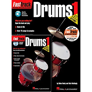 Hal-Leonard-FastTrack-Drum-Method-Starter-Pack---Includes-Book-CD-DVD-Standard