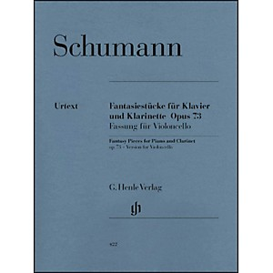 G--Henle-Verlag-Fantasy-Pieces-For-Piano-And-Clarinet-Opus-73--Version-For-Violoncello--By-Schumann-Standard