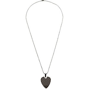 Clayton-Guitar-Pick-Necklace-Black-Graphite-Steel-22--BALL-CHAIN