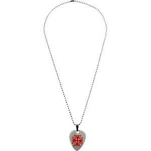 Clayton-Red-Cross-Guitar-Pick-Necklace-Red-Cross-22--BALL-CHAIN