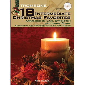 Carl-Fischer-18-Intermediate-Christmas-Favorites---Trombone-Book-CD-Standard