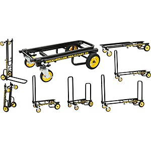 Rock-N-Roller-Multi-Cart-8-in-1-Micro-Equipment-Transporter-Cart-Black-Frame-Yellow-Wheels-Micro