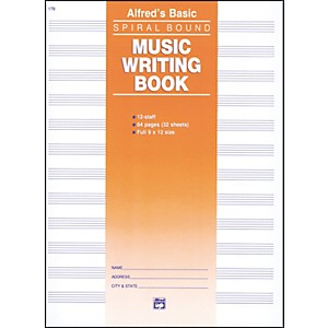 Alfred-12-Stave-Music-Writing-Book--9-x-12--Standard