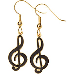 AIM-G-Clef-Earrings-Black