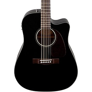 Fender-CD140SCE-Acoustic-Electric-Guitar-Black