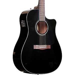 Fender-CD60CE-Cutaway-Dreadnought-Acoustic-Electric-Guitar-Black