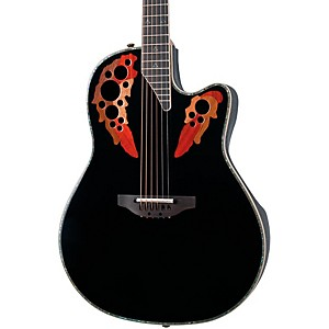 Ovation-Custom-Elite-C2078-AX-Deep-Contour-Acoustic-Electric-Guitar-Black