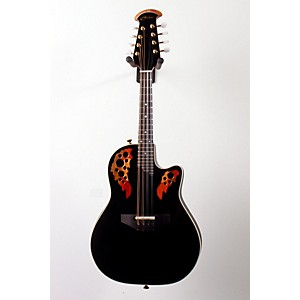 Ovation-Acoustic-Electric-Cutaway-Mandolin-with-Case-Black-888365110820