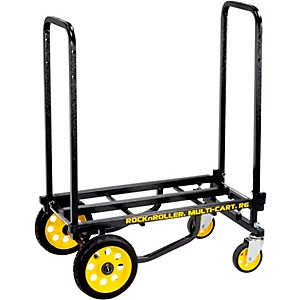 Rock-N-Roller-R6RT-Multi-Cart-8-in-1-Equipment-Transporter-Cart-Black-Frame-Yellow-Wheels-Mini
