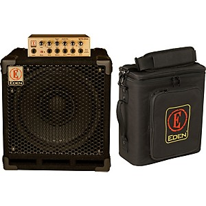 Eden-EGRW1264-260W-Bass-Amp-Head-and-300W-1x12-Cabinet-Stack-Black-4-Ohm