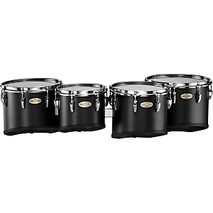Pearl-CarbonPly-Mahogany-Marching-Tom-Set--301--Carbon-Fiber-Matte-10-12-13-14-set