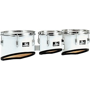 Pearl-Competitor-Marching-Tom-Set--33-Pure-White-8-10-12-set
