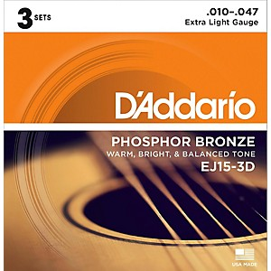 D-Addario-EJ15-Phosphor-Bronze-Extra-Light-Acoustic-Strings-3-Pack-Standard