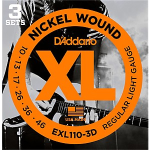 D-Addario-EXL110-Nickel-Light-Electric-Guitar-Strings-3-Pack-Standard