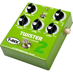 T-Rex-Engineering-Twister-2-Stereo-Chorus-and-Flanger-Guitar-Effects-Pedal-Green
