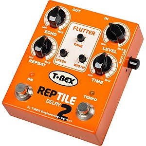 T-Rex-Engineering-Reptile-2-Digital-Delay-Guitar-Effects-Pedal-Orange