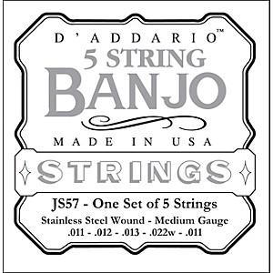 D-Addario-JS57-Stainless-Steel-Medium-Banjo-Strings-Standard