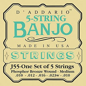 D-Addario-J55-Phosphor-Bronze-Medium-Banjo-Strings-Standard