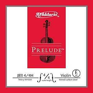D-Addario-J811-Prelude-4-4-Violin-Single-E-String-Plain-Steel-Heavy