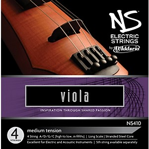 D-Addario-NS410-NS-Electric-Viola-Strings-Standard