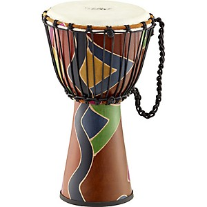 Schalloch-Rope-Tuned-Fiberglass-Djembe-10-inch-Safari-Finish