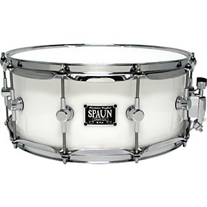 Spaun-LED-Acrylic-Snare-Drum-White-6x14