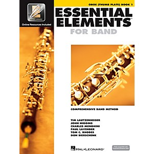 Hal-Leonard-Essential-Elements-Oboe-Thumb-Plate--Book-CD--Standard