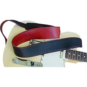 El-Dorado-Durango-Suave-Leather-Strap-Black-Red-Standard