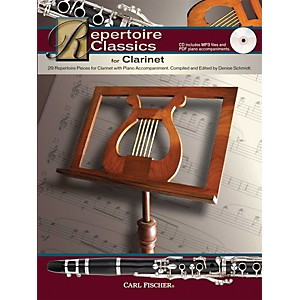 Carl-Fischer-Repertoire-Classics-for-Clarinet--Book--Data-MP3-CD--Standard