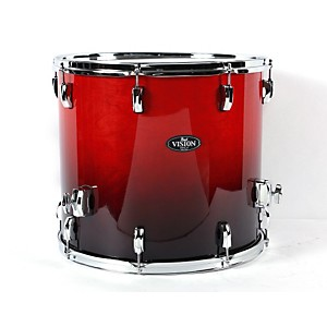 Pearl-Vision-Birch-Lacquer-Floor-Tom-Ruby-Fade-18X16