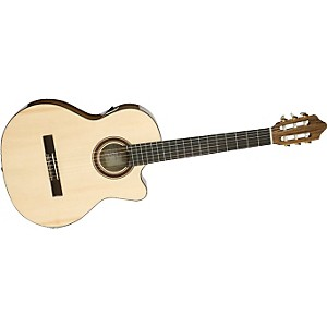 Kremona-Rondo-Cutaway-Acoustic-Electric-Classical-Guitar-Natural