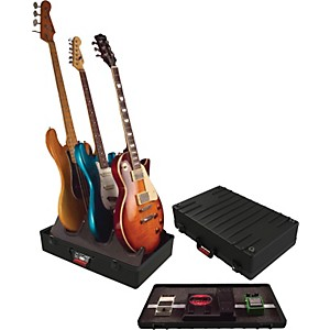 Gator-TSA-GIG-BOX-Guitar-Stand-Pedalboard-Holds-3-electric-guitars